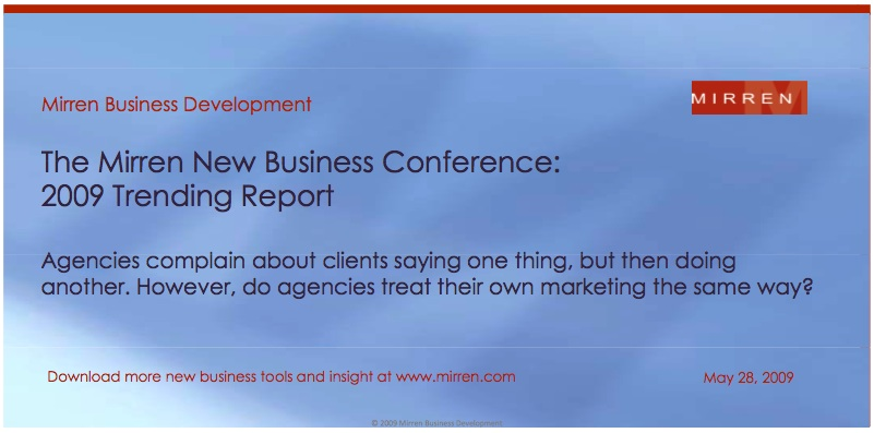 mirren new business conference