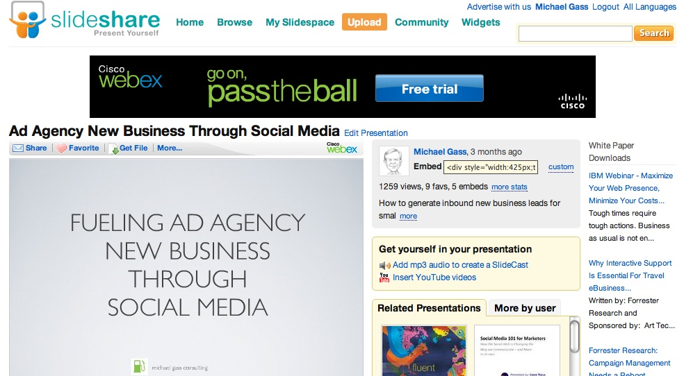 slideshare for ad agency new business