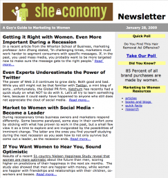 She-conomy Email Newsletter
