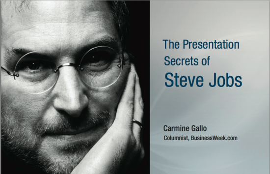 steve jobs presentation tactics for ad agency new business