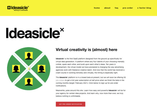 A platform for ad agency new business